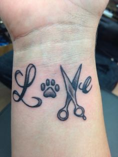 Love Paw Print Tattoo On Inner Wrist