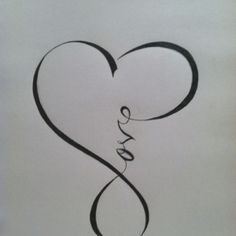 Love Symbol Tattoo Print
