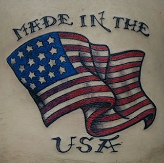 Made In The USA Patriotic Tattoo