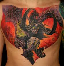 Majestic Video Game Tattoos On Chest