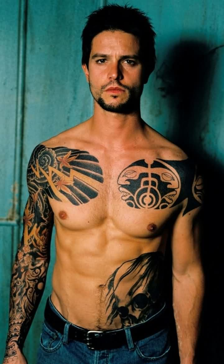 Man With New Tattoos