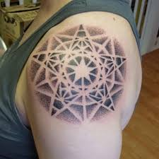 Mandala Nautical Star Tattoos On Shoulder