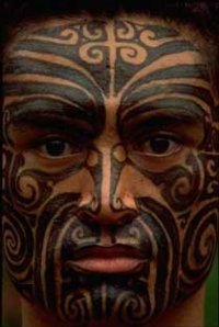 Maori Facial Tattooed People