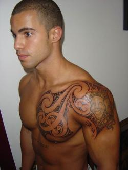 Maori Tribal And Laughing People Tattoos For Men