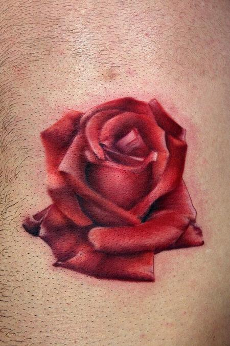 Marvelous Red Rose Tattoo