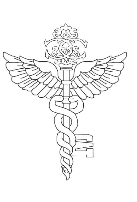 Medical Symbol Tattoo Sample