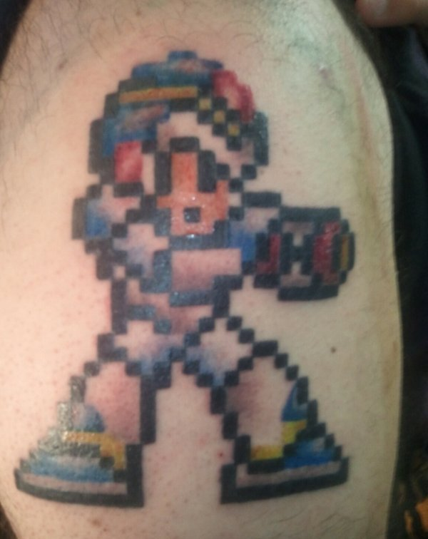 Mega Man X Tattoo