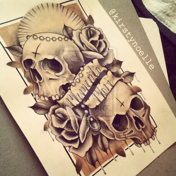 Memento Mori Skull And Rose Tattoo Page