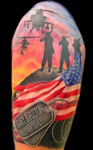 Memorial Day Patriotic Tattoos