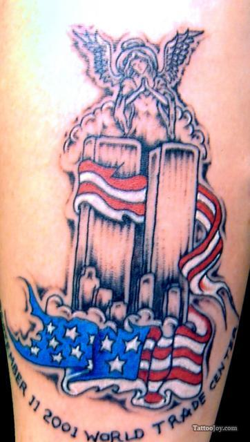 Memorial World Trade Center Patriotic Tattoo