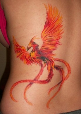 Miami Ink Phoenix Tattoo On Back