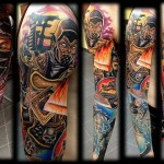 Mortal Kombat Sleeve Tattoos