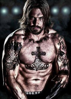 Muscular Man With Tattoos