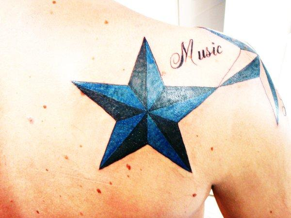 Music Nautical Star Tattoos