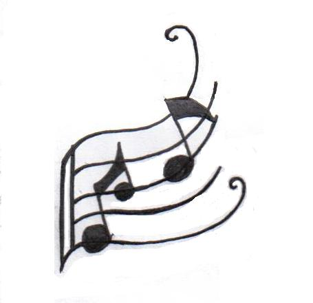 Musical Symbols Tattoo Design