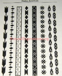 Native American Arm Band Stencils