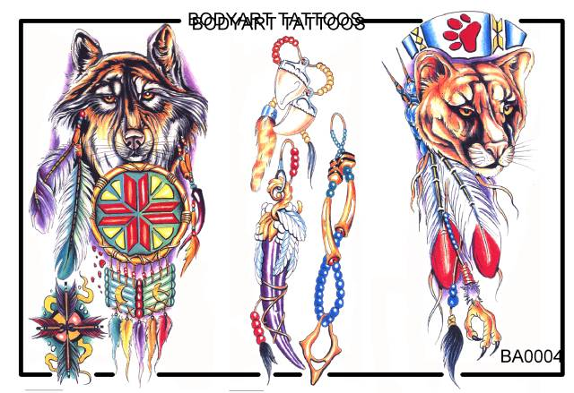 Native American Bodyart Tattoos