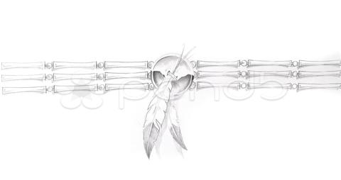 Native American Bracelet Tattoo Sketch