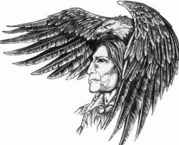 Native American Eagle Head Tattoo Photo