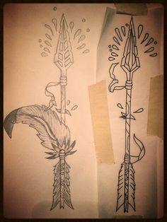Native American Feather And Arrow Tattoos