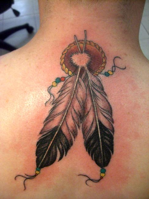 Native American Feathers Tattoos