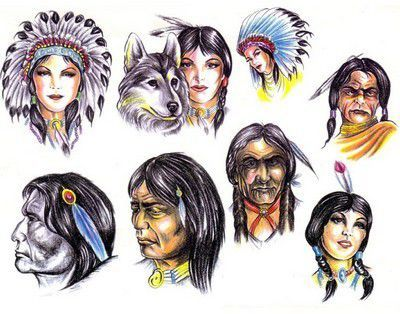 Native American Head Tattoo Designs