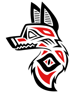 Native American Inspired Wolf Head Tattoo Sample