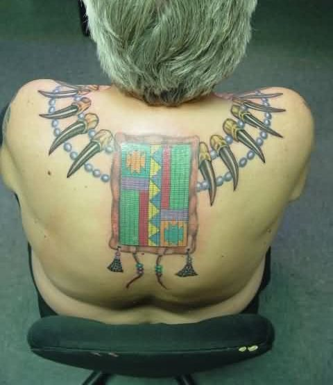 Native American Necklace Tattoo For Women