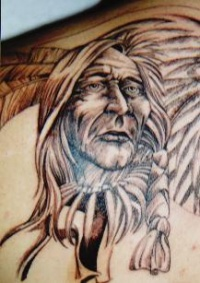 Native American Old Lady Tattoo