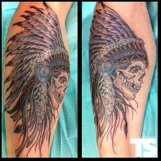 Native American Skull Tattoos