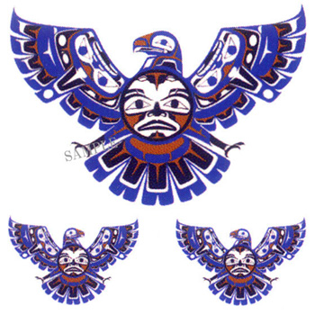 Native American Spread Wings Eagle Tattoos