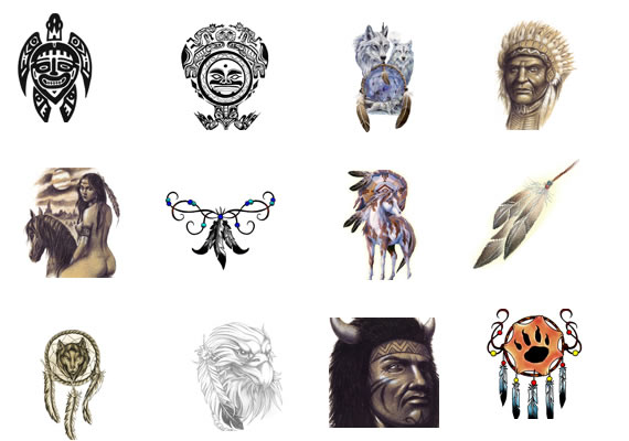 Native American Symbol Tattoos Collection