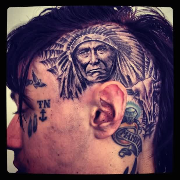 Native American Tattoo Haircuit For Boys