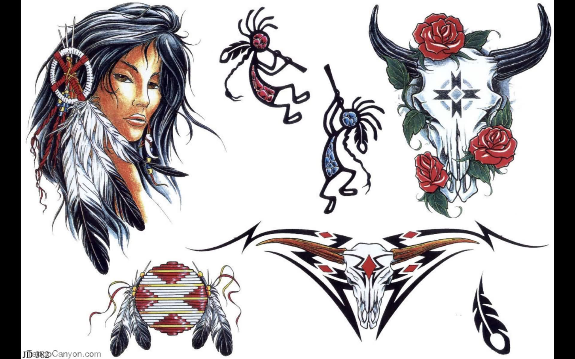 Native American Tattoo Sheet