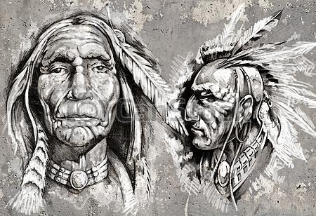 Native American Tattoo Sketches