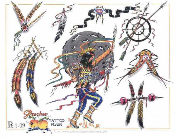 Native American Tattoos Flash