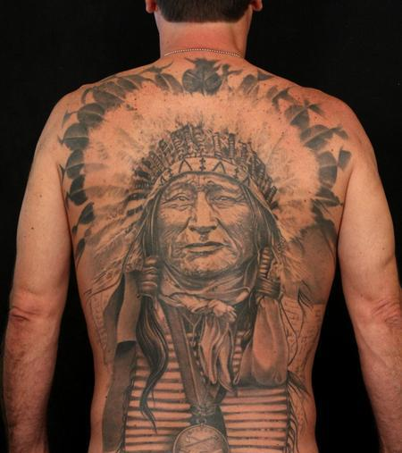 Native American Tattoos On Back