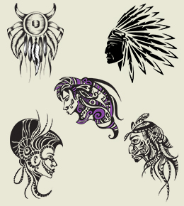 Native American Tribal Tattoo Sheet