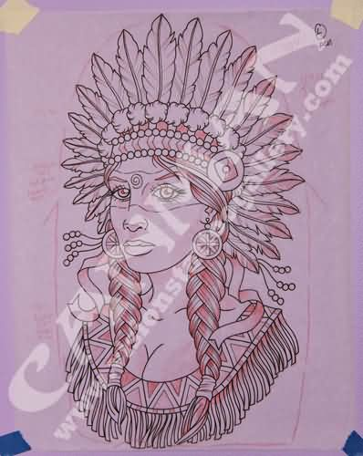 Native American Woman Tattoo Page