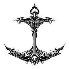 Nautical Anchor Tribal Tattoo Sample
