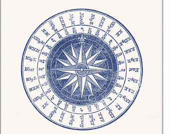 Nautical Compass Tattoo Design