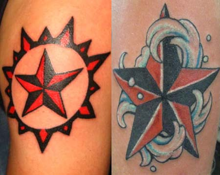 Nautical Star Tattoos Pics