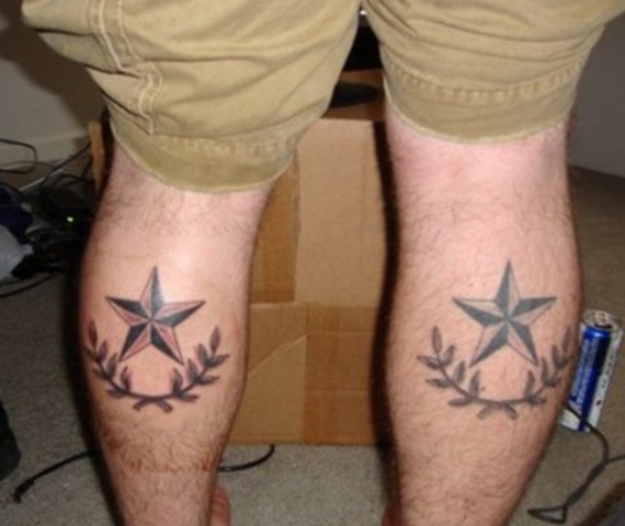 Nautical Stars Leg Tattoos