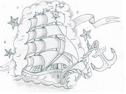 Nautical Stars Pirate And Anchor Tattoo Designs