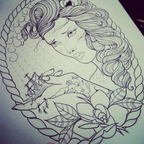 Nautical Tattoo Drawing Page