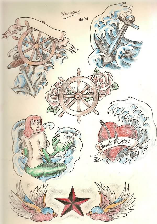 Nauticals Tattoo Flash