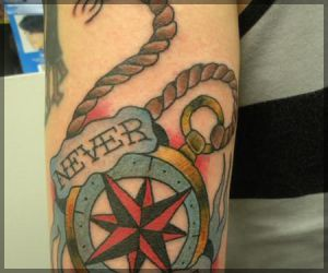 Never Nautical Tattoo