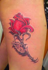 New 3D Red Rose Tattoo For Boys And Girls