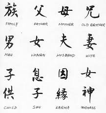 New Black Chinese Symbol Tattoo Designs
