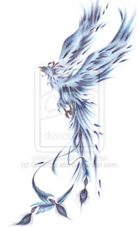 New Blue Phoenix Tattoo Version